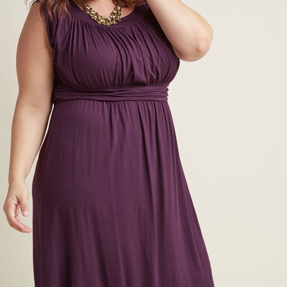 32b9f0ac2ee ModCloth I Love Your Jersey Dress in Plum. M 5b8865c803087c55dca9c7bc